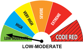 Fire Weather Index: LOW TO MODERATE