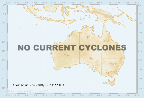 Current Australia Region Tropical Cyclones